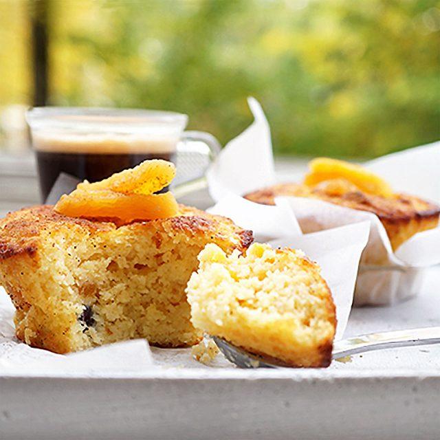 Abrikos-cupcakes