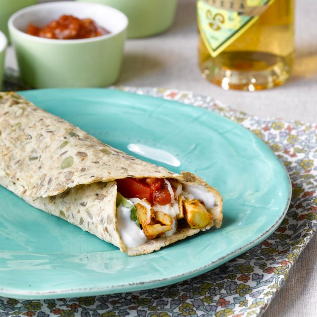 Tortilla wraps with bread mix